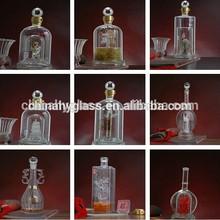 Botella de vidrio con corcho, vidrio de botella de vino, 750ml botella de vidrio, botella de vidrio de la fábrica