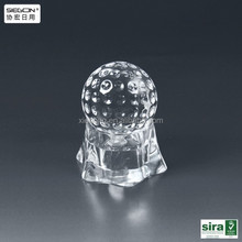 Transparent clear acrylic wedding decoration wine bottle cover