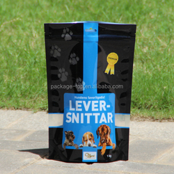 stand up dog food Packaging bag/dog treats packaging/custom ziplock pouch