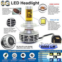 Newest G6 2800lm 28w super bright auto motorcycle high power h9 led headlight bulb