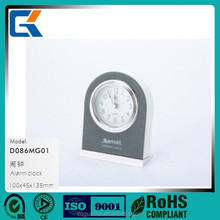 New design mini durable leather electronic digital alarm clock for hotel supplies