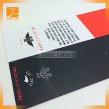 Shinning golden film coated folding hang tag for top grade garments