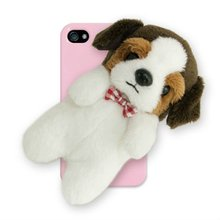 Mobilephone case with rag doll, Touch pen