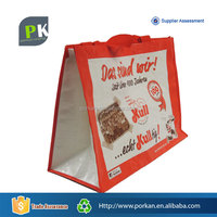 Customize Logo Shop Brand Carry Bag For Food Takeaway