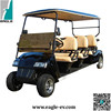 electric golf cart, CE approved 6 seats battery powered fleet golf car EG2068K,DOT, LSV