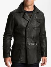 Custom Tailor Made All Sizes Blazer Coat 100% Leather Jacket Double Breasted