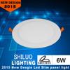 6w aluminium panel light frame panel 85-265v 6w round led panel light