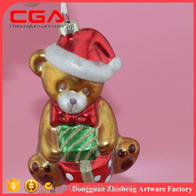 2015 very funny glass dolls for christmas tree decoration, competitive price and high quality customized christmas tree ornament