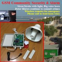 gsm sms neighbor safety alarm / GSM community propaganda Horn voice alarm