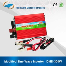 DC 12V 24V TO AC 220V 300W car power inverter with USB port and cigarette lighter