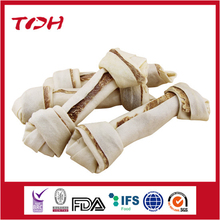 Rawhide Bone Knotted Inserted With Beef Meat dog food factory for sale