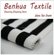 Stretch Spandex Knit Polyester Cotton Jersey Fabric Black and White Stripe