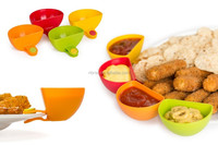 4 PCS Kitchen Tool Plastic Dip Clips Colorful Bowl Clips Mini Plate Sauce Clips