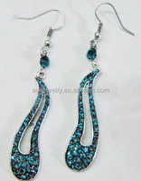 Anti Tarnish Rhinestone Dangler Earrings