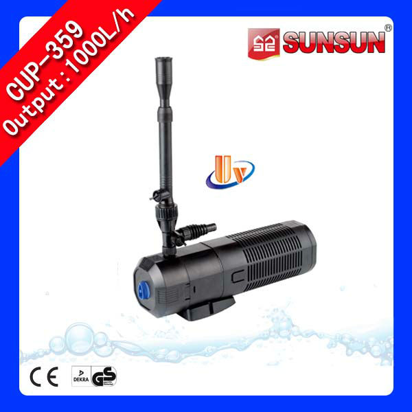 Submersible pond filter pump pond bio filter with uv light for Pond pump with uv filter