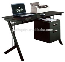 fashionable black glass top Laptop table(DX-8808B)
