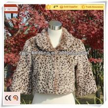 Wholesale scarves Sexy Leopard girls fake fur designer pashmina shawl coat