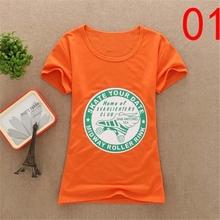 OEM fashion high quality sublimation 100% cotton girls sports tshirt