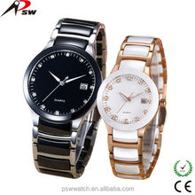 fashion couple watches, steel and ceramic watches, luxury wrist watch