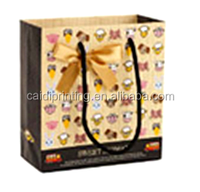 promotion paper handle bags with logo for wholesale and shopping