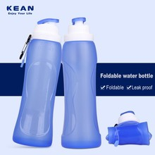 Hot sale custom colors big capacity soft rollable bpa free silicone inflatable bottle