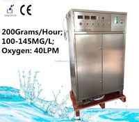 Good sale 200G/H 100~145MG/L Ozone generator/Ozone water purifier/Ozone generator for swimming pool