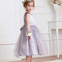 2015 Kids girl dress rose baby girl princess clothing children formal party dress