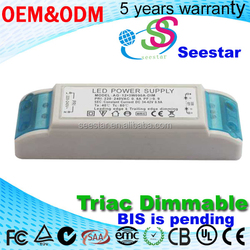 Output DC 34-42V 18-24W 30W 36W 900mA triac dimmable led driver for led lighting Shenzhen manufacturer wholsale Best price