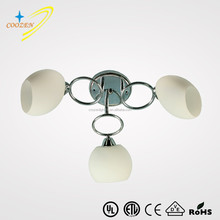 CZ80039-3C classic modern indoor lighting hotel chrome round chandelier simple design lamp fixture