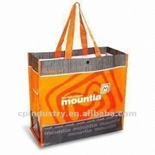 eco pet woven material fashion shopping bag