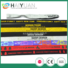 Promotional wristbands polyester wristbands woven wristbands