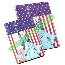 USA Flag and Statue of Liberty Pattern leather coach case for ipad air case