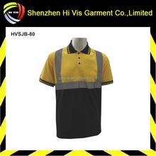 Hi vis 3M reflective work uniform breathable polo shirts,cotton drill shirt