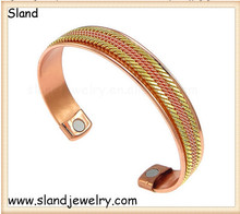 SLand jewelry Guangzhou factory online wholesale natual color rattractive copper magnetic bracelet -- Whole Body Pain Relief Aid