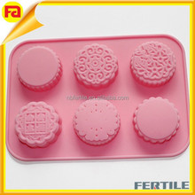Silicone Cake Mould Flowers Heart leaves making soap molds snowy moon cake mold pudding jelly Chocolate molds