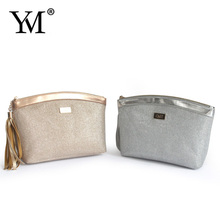 2015 New design elegant zippered travel pu women's make-up bag for promotion