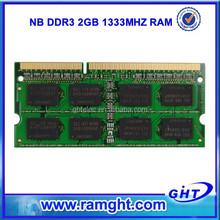 Best price 1 Piece order ddr3 2gb ddr 1333 laptop memory