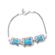 Sapphire Neutral Hollow Loom Bracelets Snake Chain Lobster Clasp Jewelry 925 Sterling Silver Bracelets For Women