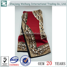whosale cheap fashion square size satin novel painting cheap silk scarf