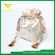 Fancy soft silk satin bag for wedding lingeries