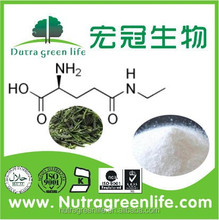 Organic Green tea extract powder, L-Theanine, factory supplier