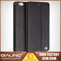 QIALINO Premium Quality Custom Fit Hand-Made Flip Leather Phone Case For Iphone 6