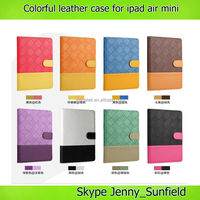 Tablet case cover colorful stand folio leather case for ipad mini air , for ipad case leather