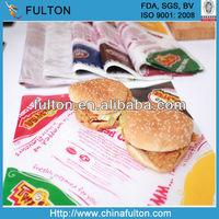 Printed Hamburger Wrapping Paper