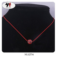 Rope Chain Rhinestone Pendant Cheap Necklaces Handmade Jewelry Trends 2015