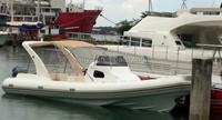 liya china 27ft rib hypalon inflatable boat fiberglass rib boat consoles