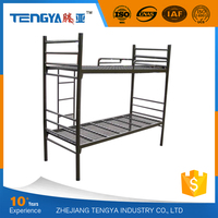 Tengya Strong School Dormitory Metal Bunk Bed Double Decker Iron Bed for Sale