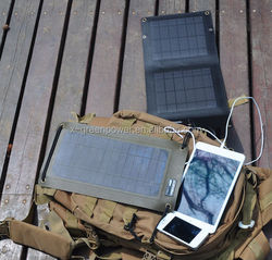 5.5W solar panel charger directly charging iphone/ipad