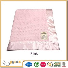 Cheap plain 100% nicety minky baby blankets fleece blanket minky dot blanket