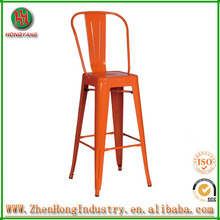 bw hot selling products steel bar chair, popular in America market steel bar chair with cushion, high back steel bar chair